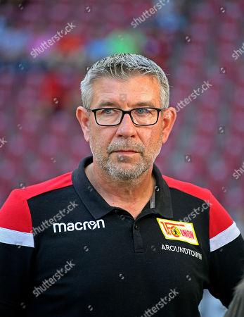 24.08.2019, Football 1. Bundesliga 2019/2020, 2. match day, FC Augsburg - 1.FC Union Berlin, in WWK-Arena Augsburg.  Trainer Urs Fischer (Union Berlin).