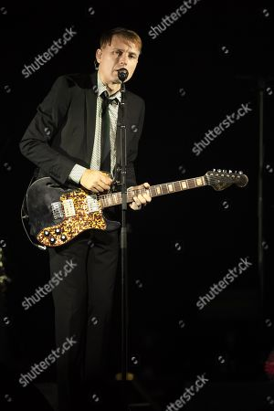 Editorial image of Franz Ferdinand in concert at Terrasse Riviera, Palais des Festivals, Cannes, France - 22 Aug 2019