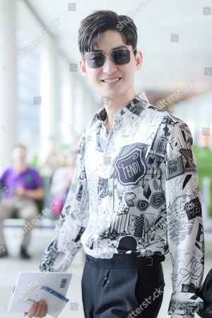 Zhang Han at Shanghai Airport