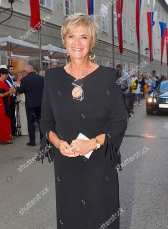 Stock Image of Gloria von Thurn und Taxis at Salzburg Festival at the Grand Festival Hall