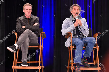 Chris Sarandon, Cary Elwes. Cary Elwes, left, and Chris Sarandon participate during a Q&A panel on day two at Wizard World at the Donald E Stephens Convention Center, in Chicago