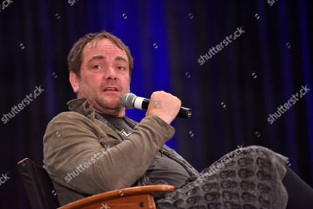 Mark Sheppard participates during a Q&A panel on day two at Wizard World at the Donald E Stephens Convention Center, in Chicago