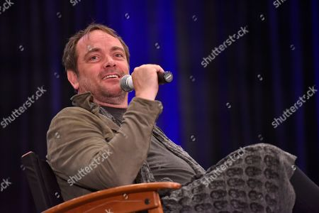Stock Photo of Mark Sheppard participates during a Q&A panel on day two at Wizard World at the Donald E Stephens Convention Center, in Chicago