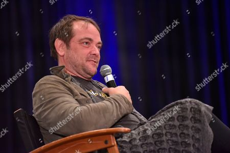 Stock Image of Mark Sheppard participates during a Q&A panel on day two at Wizard World at the Donald E Stephens Convention Center, in Chicago