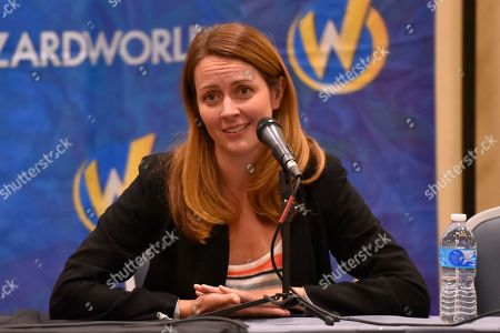 Stock Photo of Amy Acker participates during a Q&A panel on day two at Wizard World at the Donald E Stephens Convention Center, in Chicago