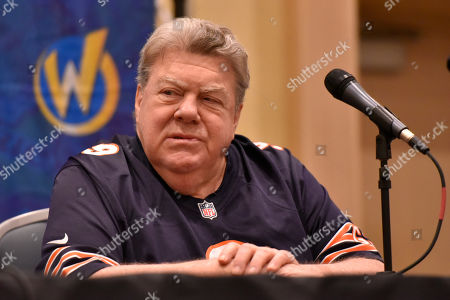 Stock Picture of George Wendt participates during a Q&A panel on day two at Wizard World at the Donald E Stephens Convention Center, in Chicago