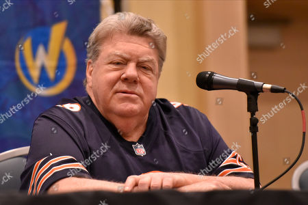 George Wendt participates during a Q&A panel on day two at Wizard World at the Donald E Stephens Convention Center, in Chicago