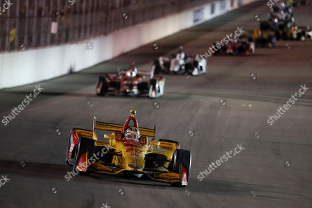 Ryan Hunter-Reay in action during the IndyCar auto race at World Wide Technology Raceway, in Madison, Ill