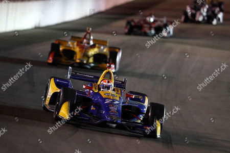 Alexander Rossi in action during the IndyCar auto race at World Wide Technology Raceway, in Madison, Ill