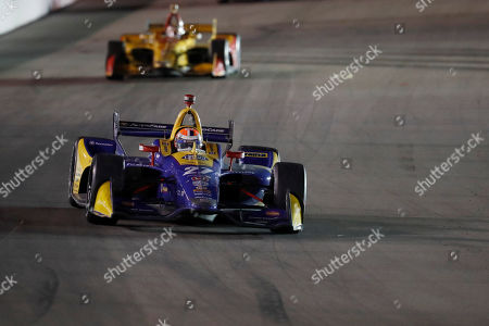 Alexander Rossi (27) in action during the IndyCar auto race at World Wide Technology Raceway, in Madison, Ill