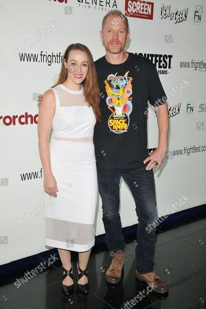 April Billingsley and Dan Bush attend the screening of 'The Dark Red'