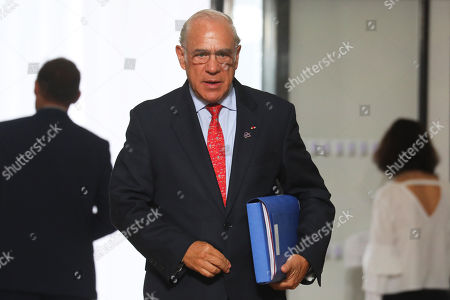 The Organisation for Economic Co-operation and Development (OECD) Secretary General Angel Gurria arrives for the G7 Summit in Biarritz, France, 25 August 2019. The G7 Summit runs from 24 to 26 August in Biarritz.