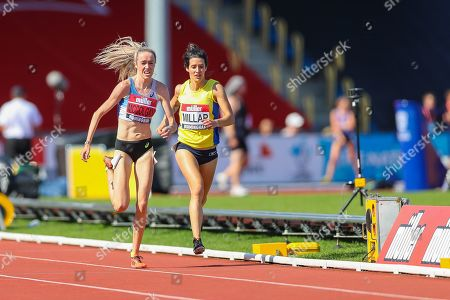 Eilish MCCOLGAN sprints to the finish line in the Women's 5000m Final during the Muller British Athletics Championships at Alexander Stadium, Birmingham