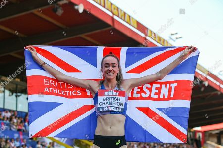 Women's 5000m Final winner, Eilish MCCOLGAN during the Muller British Athletics Championships at Alexander Stadium, Birmingham