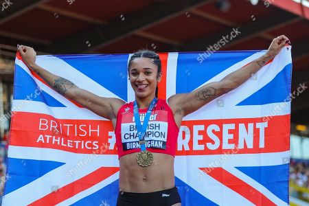 Jodie WILLIAMS, winner of the Women's 200m Final during the Muller British Athletics Championships at Alexander Stadium, Birmingham