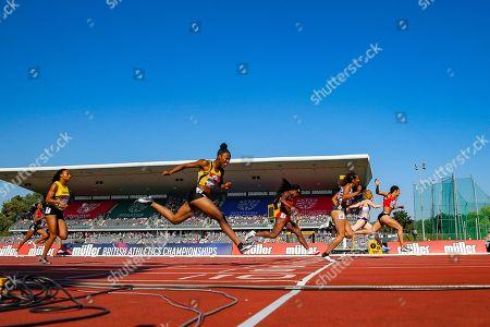 Jodie WILLIAMS wins the Women's 200m Final during the Muller British Athletics Championships at Alexander Stadium, Birmingham