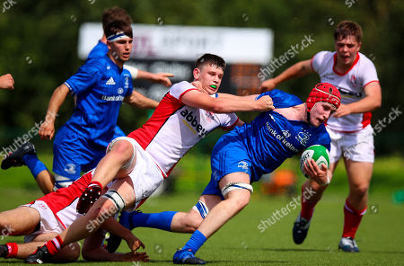 Leinster Clubs vs Ulster Clubs. Leinster's Sean Walsh with James Crummie of Ulster
