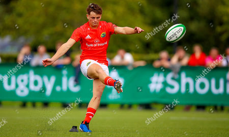 Connacht U18's vs Munster Clubs. Munster's Tony Butler converts his own try