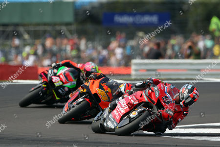 Italian MotoGP rider Danilo Petrucci of the Ducati Team during the MotoGP race of the 2019 Motorcycling Grand Prix of Britain at the Silverstone race track, Northampton, Britain, 25 August 2019.