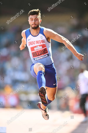 Ben Williams of Sale H Manchester competes during the Men's Triple Jump Final.
