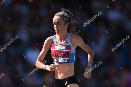 Stock Image of Eilish McColgan of Dundee Hawkill H competes in the Women's 5000 Meters Final.