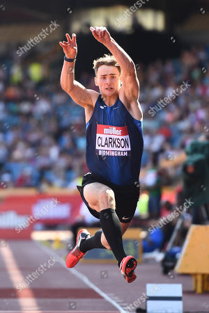 Henry Clarkson of Liverpool H competes during the Men's Triple Jump Final.