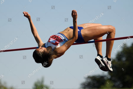 Morgan Lake of WSE Hounslow during the Women's High Jump Final.