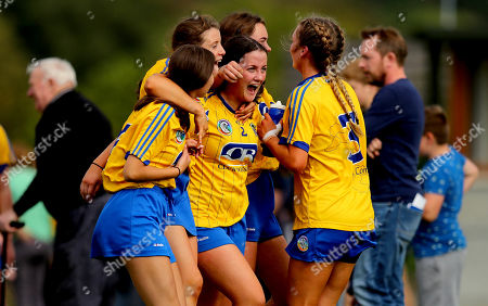 Kerry vs Roscommon. Roscommon's Jane Creavin, Amy Fitzmaurice, Niamh Kelly and Aoife Keogh celebrate after the game