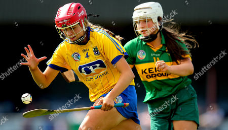 Kerry vs Roscommon. Kerry's Grainne Shanahan and Ali Campbell of Roscommon