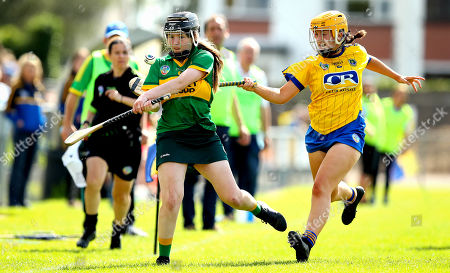 Kerry vs Roscommon. Kerry's Cara Cullen and Niamh Kelly of Roscommon