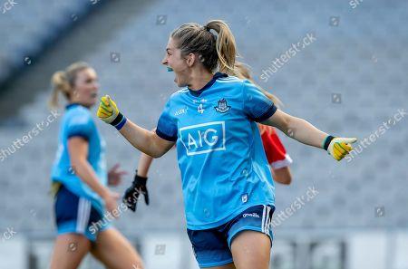 25/8/2019. Cork vs Dublin. Dublin's Martha Byrne celebrates the final whistle