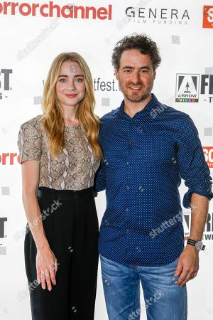 Hannah Kasulka (The Exorcist Series) and Jordan Barker (Torment, The Marsh) attend the screening of 'Witches in The Woods'