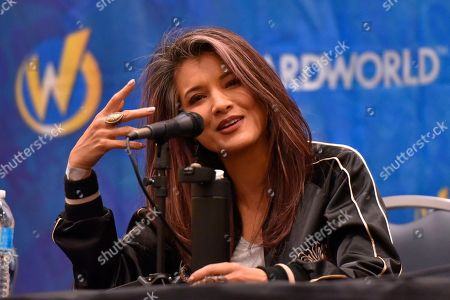 Stock Photo of Kelly Hu participates during a Q&A panel on day four at Wizard World at the Donald E Stephens Convention Center, in Chicago
