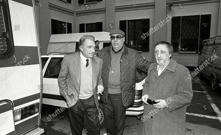 Ugo Tognazzi, Sandro Corbucci and Carlo Delle Piane