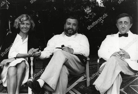 Aurore Clement, Pupi Avati and Carlo Delle Piane