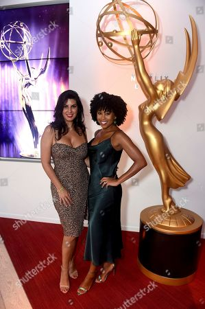 Stock Picture of Mariam Rene, Zee James. Mariam Rene, left, and Zee James arrive at the 2019 Performers Peer Group Celebration at the Saban Media Center, in North Hollywood, Calif