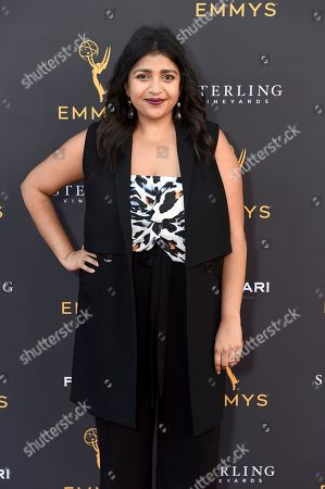 Punam Patel arrives at the 2019 Performers Peer Group Celebration at the Saban Media Center, in North Hollywood, Calif