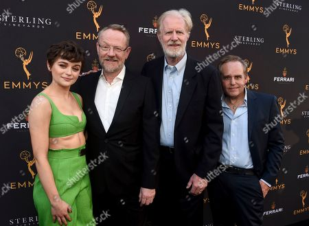 Joey King, Jared Harris, Ed Begley Jr., Peter MacNicol. Joey King, from left, Jared Harris, Ed Begley Jr., and Peter MacNicol attend the 2019 Performers Peer Group Celebration at the Saban Media Center, in North Hollywood, Calif