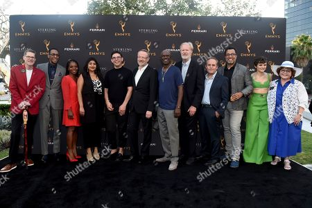 Bob Bergen, Ron Cephas Jones, Marsha Stephanie Blake, Punam Patel, Ryan O'Connell, Jared Harris, Glynn Turman, Ed Begley Jr., Peter MacNicol, Anthony Mendez, Joey King, Patrika Darbo. Bob Bergen, Performers Peer Group Governor, from left, Emmy Nominee Ron Cephas Jones, Marsha Stephanie Blake, Punam Patel, Ryan O'Connell, Jared Harris, Glynn Turman, Ed Begley Jr., Peter MacNicol, Anthony Mendez, Joey King, and Performers Peer Group Governor Patrika Darbo attend the 2019 Performers Peer Group Celebration at the Saban Media Center, in North Hollywood, Calif