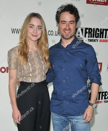 Hannah Kasulka and Jordan Barker attend the screening of 'Witches in the Woods'