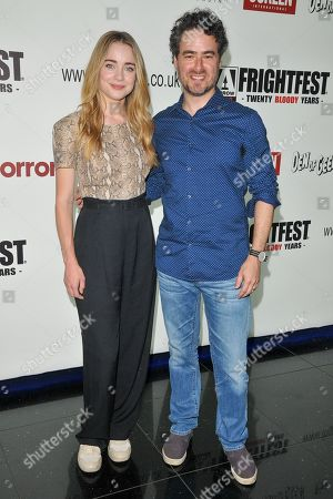 Stock Photo of Hannah Kasulka and Jordan Barker attend the screening of 'Witches in the Woods'