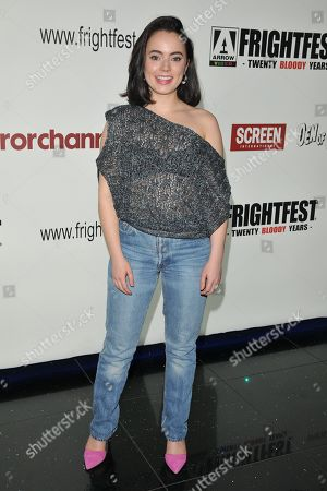 Stock Image of Freya Tingley attends the screening of 'The Sonata'