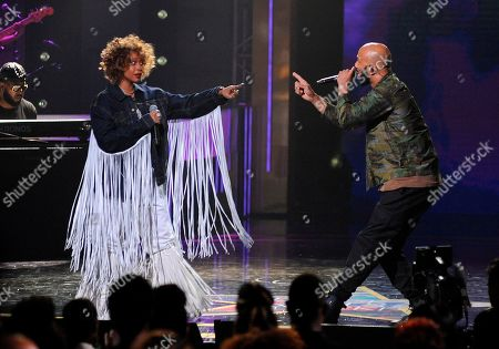 Common; Erykah Badu. Common and Erykah Badu perform at the 2019 Black Girls Rock! Awards at the New Jersey Performing Arts Center, in Newark, N.J