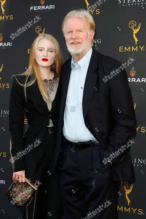 Hayden Carson Begley and her father US actor Ed Begley Jr arrive for the 71st Emmy Awards Season Peer Group Celebration at the Saban Media Center in North Hollywood, Los Angeles, California, USA, 25 August 2019.