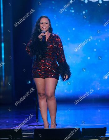 Elle Varner performs on stage at the 2019 Black Girls Rock! Awards at the New Jersey Performing Arts Center, in Newark, NJ
