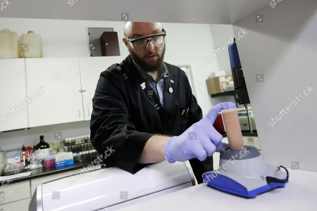 Chemist David Dawson gives a demonstration on testing for THC and other chemicals at CW Analytical Laboratories in Oakland, Calif. Chemists are trying to solve a scientific mystery involving marijuana brownies. Chocolate seems to throw off test results for potency. That could be dangerous for consumers looking to relax, not hallucinate