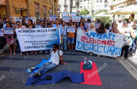 Editorial image of Hunger strike, Naples, Italy - 26 Aug 2019