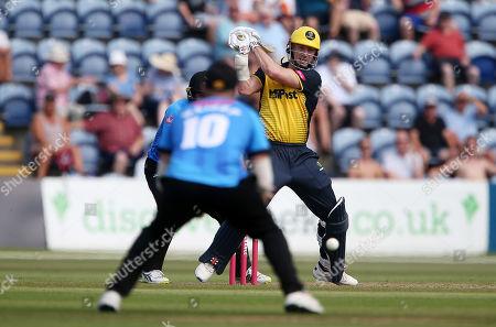 Shaun Marsh of Glamorgan batting.