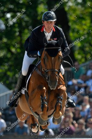 Ben Maher of Great Britain with Explosion W