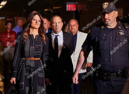 Disgraced movie producer Harvey Weinstein (C) accompanied by Chicago attorney Donna Rotunno (L), a member of his legal team, arrives to New York State Supreme Court for a hearing related to his upcoming trial on charges of rape and sexual assault in New York, New York, USA, 26 August 2019. Weinstein is being re-arraigned on revised charges based on rape accusations from actress Annabella Sciorra and a judge in the case was expected to rule on a motion by defense attorneys to move the case out of New York City.